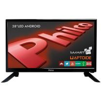 "Smart TV Android LED 28"" Philco PH28N91DSGWA HD, WiFi, 2 USB, 2 HDMI -"