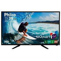 "Smart TV Android LED 39"" Philco PTV39N92DSGWA Full HD com Wi-Fi 2 USB 2 HDMI Ginga Midiacast e 60Hz -"