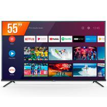 """Smart TV Android LED 55"""" Ultra HD 4K TCL 55P8M Comando de Voz 3 HDMI 2 USB -"""