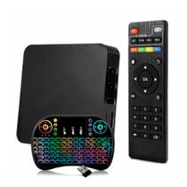 Smart TV Box Android 7.1 4K c/ Mini Teclado Wireless Preto - Zgp