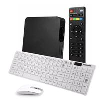 Smart TV Box Android 7.1 4K c/ Teclado Mouse Wireless - Jiaxi