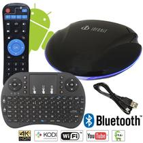 Smart TV BOX Inforkit 4K Quad Core 64BITS 2GB DDR3 16GB UFO Bluethooth 4.0 + Teclado Luminoso