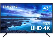 """Smart TV Crystal 4K 43"""" Samsung UN43AU7700GXZD - Wi-Fi Bluetooth HDR 3 HDMI 1 USB"""