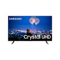 Smart TV Crystal 50 Polegadas Samsung UHD 4K Bluetooth HDR Comando de Voz Modo Ambiente Foto Borda Ultrafina -