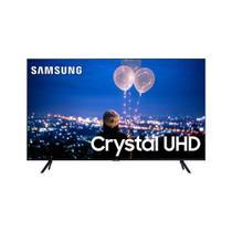 Smart TV Crystal 55 Polegadas Samsung UHD 4K Bluetooth HDR Comando de Voz Modo Ambiente Foto Borda Ultrafina -