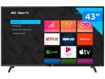 "Smart TV Full HD LED 43"" AOC 43S5195/78G - Wi-Fi 3 HDMI 1 USB"