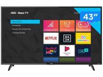 "Smart TV Full HD LED 43"" AOC Roku 43S5195/78G - Wi-Fi 3 HDMI 1 USB -"