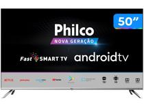 "Smart TV HD D-LED 50"" Philco PTV50G71AGBLS - Android Wi-Fi Inteligência Artificial 4 HDMI 2USB"