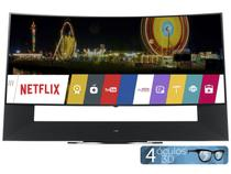 "Smart TV LCD LED Curva 5k Ultra HD 3D 105"" LG  - 105UC9 Conversor Integrado 4 HDMI 3 USB Wi-Fi"