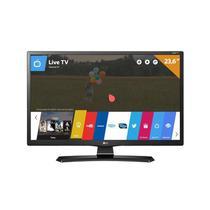 "Smart TV LED 23,6"" Monitor LG 24MT49S, HD, HDMI, USB, WebOS 3.5, Wi-Fi Integrado -"