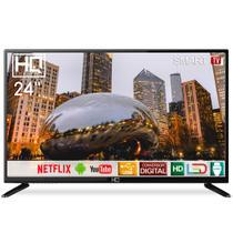 "Smart TV LED 24"" HD HQ HQSTV24NP Netflix Youtube HDMI USB Wi-Fi -"