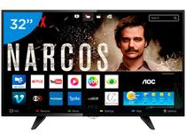 Smart tv led 32 aoc le32s5970s 2 hdmi 1 usb wifi -