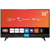 "Smart TV LED 32"" HD AOC 32S5295/78G com HDR, Wi-Fi, Miracast, Botão Netflix e YouTube HDMI USB -"