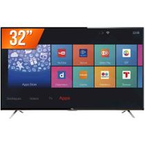 Smart TV LED 32 HD Semp TCL L32S4900S 3 HDMI 2 USB Wi-Fi Integrado Conversor Digital