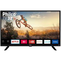 "Smart TV LED 32"" Philco PTV32G50SN HD com Conversor Digital 2 HDMI 1 USB Wi-Fi Áudio Dolby Preta -"