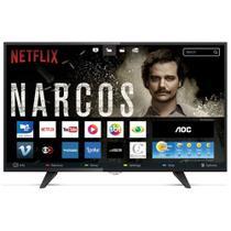 Smart TV Led 32 Polegadas AOC Wi-Fi Full HD USB HDMI LE32S5970 - Aoc Linha Marrom