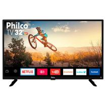Smart TV LED 32 Polegadas Philco PTV32G50SN HD 2 HDMI USB Netflix com Conversor Integrado