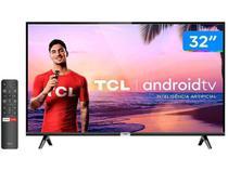"""Smart TV LED 32"""" Semp S5300 HD, Android TV, Bluetooth, Controle Remoto com Comando de Voz e Google Assistant -"""