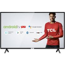 "Smart TV LED 32"" TCL HD HDR com Android TV Wi-Fi Bluetooth 1 USB 2 HDMI -"
