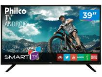 "Smart TV LED 39"" Philco PH39E60DSGWA - Android Wi-Fi Conversor Digital 2 HDMI 2 USB"
