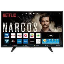 Smart TV LED 39 Polegadas AOC HDMI Wi-Fi USB LE39S5970 - Preto -