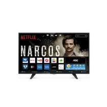 Smart TV LED 39 Polegadas AOC WIFI HD USB HDMI - Aoc Linha Marrom