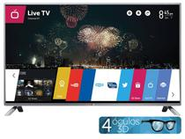 """Smart TV LED 3D 50"""" LG 50LB6500 Full HD 1080p - Conv. Integrado 3 HDMI 3 USB Wi-Fi 4 Óculos WebOS"""