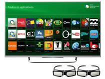 "Smart TV LED 3D 55"" Sony KDL-55W805B - Conversor Integrado 4 HDMI 2 USB Wi-Fi 2 Óculos 3D"