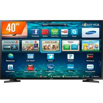 Smart TV LED 40 Full HD Samsung LH40 2 HDMI 1 USB Wi-Fi