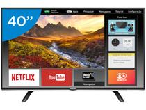 Smart TV LED 40 Panasonic Full HD TC-40DS600B  - Wi-Fi 2 HDMI 1 USB
