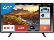 Smart TV LED 40 Panasonic Full HD TC-40DS600B  - Wi-Fi 2 HDMI 1 USB