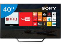 "Smart TV LED 40"" Sony KDL-40W655D - Conversor Digital 2 USB 1 HDMI"