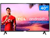 "Smart TV LED 40"" TCL 40S6500 Full HD Android - Wi-Fi HDR Inteligência Artificial 2 HDMI USB"