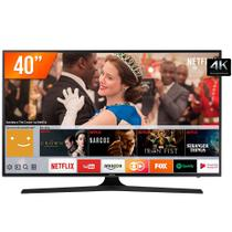 Smart TV LED 40 UHD 4K Samsung 40MU6100 3HDMI 2USB com Wifi e Conversor Digital Integrados