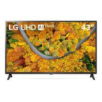 Smart TV LED 43'' 4K UHD LG 43UP7500 2021 WiFi Bluetooth HDR ThinQ AI compatível com Inteligência Artificial -