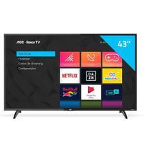 """Smart TV LED 43"""" AOC 43S5195/78G com Wi-Fi, 1 USB, 3 HDMI, com Botão Netflix/Youtube e 60Hz -"""