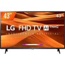 Smart TV LED 43 Full HD LG, 3 HDMI, 2 USB, Bluetooth, Wi-Fi, Active HDR, ThinQ AI - 43LM631C0SB -