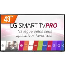 Smart TV LED 43 Full HD LG PRO 43LJ551C 2 HDMI USB Wi-Fi Integrado Conversor Digital