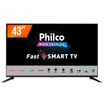"Smart TV LED 43"" Full HD Philco PTV43N5CG70BLF Conversor Digital 3 HDMI 2 USB Wi-Fi -"