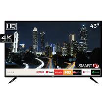 "Smart TV LED 43"" HQ HQSTV43NY Ultra HD 4K Netflix Youtube 2 HDMI 2 USB Wi-Fi -"