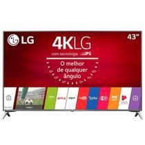 "Smart TV LED 43"" LG 43UJ6525 4K Ultra HD HDR, Wi-Fi, 120Hz, 2 USB, 4 HDMI, DTV -"