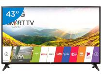 "Smart TV LED 43"" LG Full HD 43LJ5550 WebOS - Conversor Digital Wi-Fi 2 HDMI 1 USB"