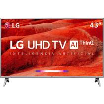 "Smart TV Led 43"" LG Ultra HD 4K Thinq AI Conversor Digital Integrado 3 HDMI 2 USB Wi-Fi -"