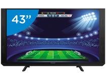 "Smart TV LED 43"" Panasonic Full HD TC-43SV700B - Conversor Digital Wi-Fi 3 HDMI 2 USB Soundbar"