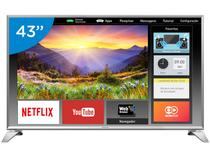 "Smart TV LED 43"" Panasonic Full HD Viera  - TC-43ES63 Conversor Digital Wi-Fi 3 HDMI 2 USB"