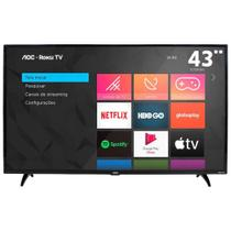 Smart TV LED 43 Polegadas AOC Roku 43S5195 Wifi Full HD USB HDMI
