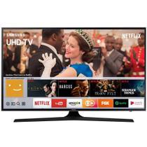 "Smart TV LED 43"" Samsung UN43MU6100 4K Ultra HD HDR com Wi-Fi 2 USB 3 HDMI e 120Hz -"