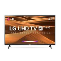"Smart TV LED 43"" UHD 4K LG 43UM7300PSA ThinQ AI HDR Ativo WebOS 4.5 DTS Virtual X -"