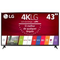 "Smart TV LED 43"" Ultra HD 4K LG 43UJ6300 com Sistema WebOS 3.5, Wi-Fi, Painel IPS, HDR, Quick Acess, Magic Mobile Connection, Music Player, HDMI e USB -"