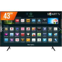 Smart TV LED 43 Ultra HD 4K Samsung NU7100 HDMI USB Wi-Fi Integrado Conversor Digital